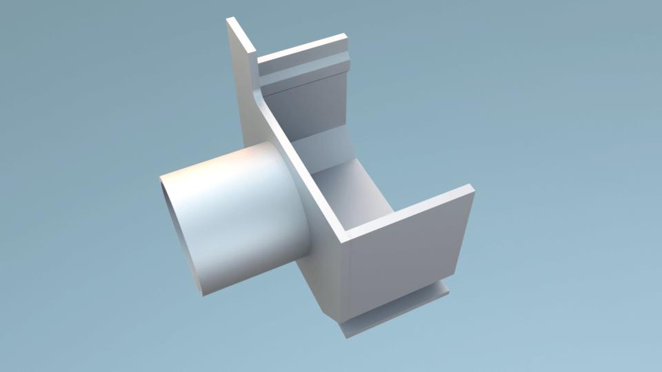Legomont Alu Drain završni čep za kanal lijevi s odvodom DN 50