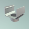 Legomont Alu Slot Drain aluminijski kanali s rasporom i revizijskim poklopcem za odvodnju terasa- dostupno ODMAH - al-vertikalni-spoj-dn-75